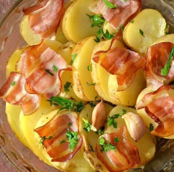 Рецепты картошка с беконом