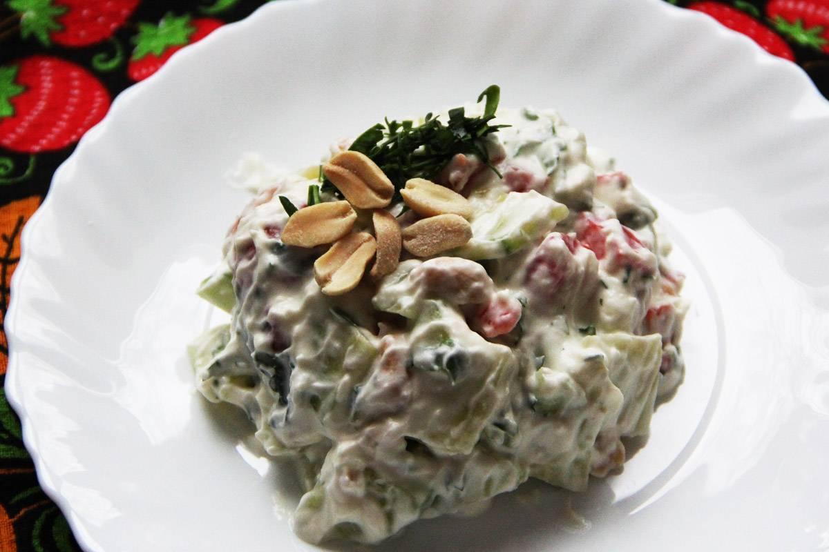 Рецепт приготовления салата с арахисом