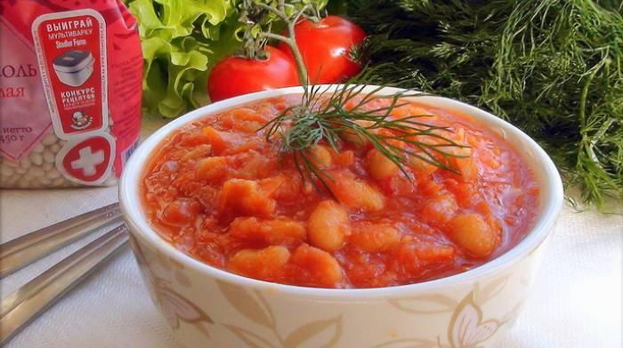 Фасоль в томатном соусе на зиму пошаговый рецепт