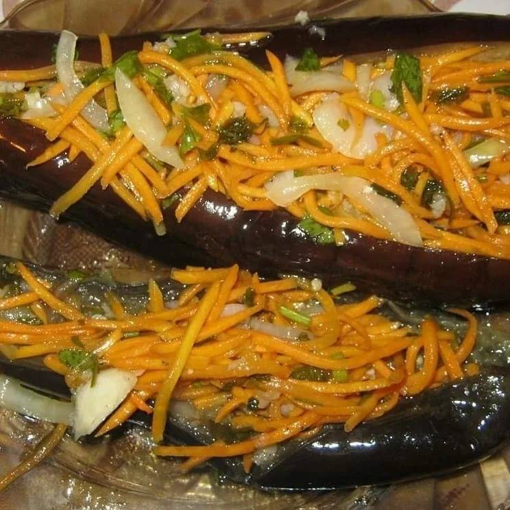 Квашеные баклажаны, фаршированные морковью и пастернаком. домашний погребок