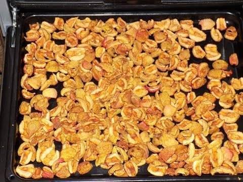Как подсушить грецкие орехи