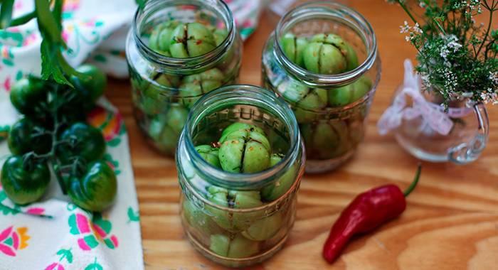 Зеленые помидоры на зиму – самые простые и вкусные рецепты