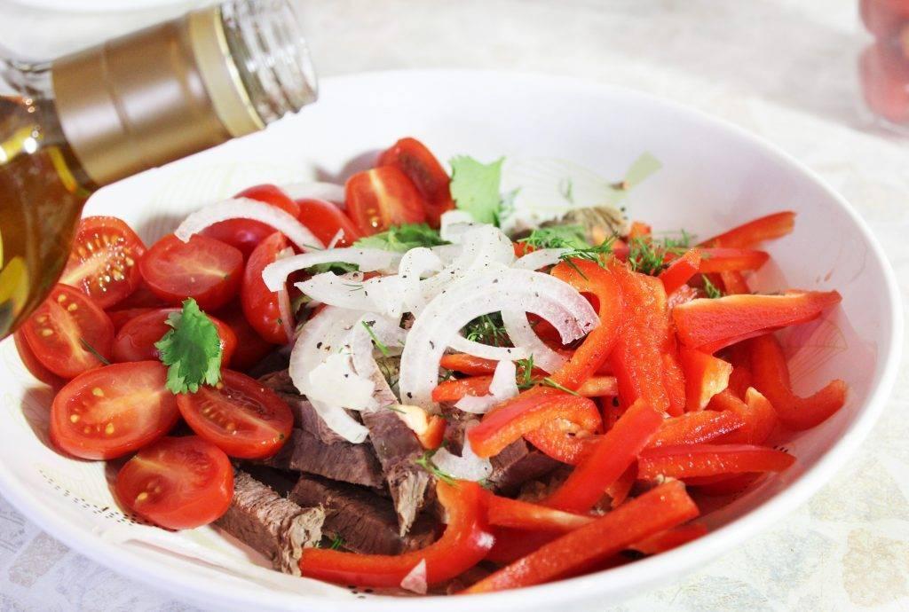 Салат фигаро. рецепт салата с языком и анчоусами.