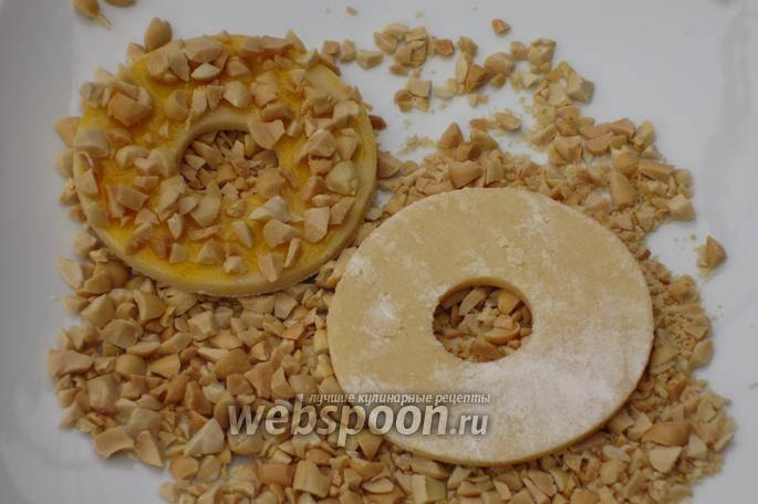Песочные кольца с арахисом рецепт с фото