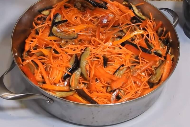Баклажаны по-корейски на зиму, самые вкусные рецепты