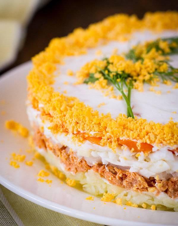 Салат из рыбных консервов - 141 рецепт приготовления пошагово - 1000.menu