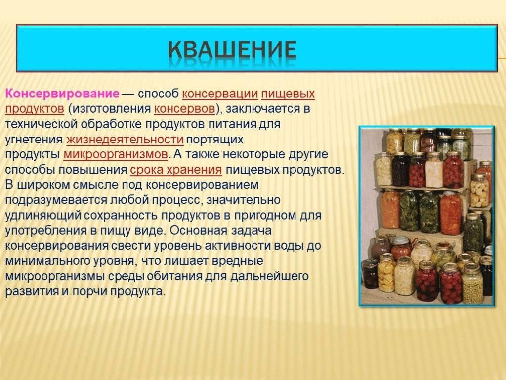 ✅ 6 основных способов консервирования продуктов - legguns.ru