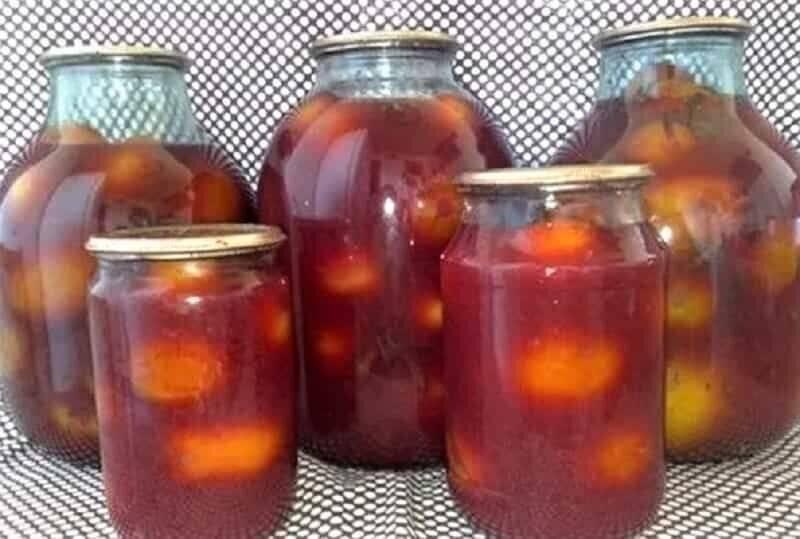 Консервирование помидоров: рецепт для желтых и красных томатов, лучшие, простой, крупные, маленькие, резанные