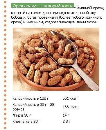 Калорийность орехов и таблица самых калорийных орехов