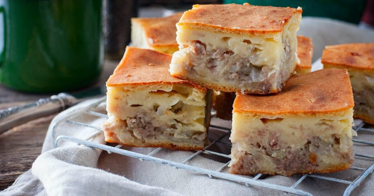 Пошаговый рецепт пирога с мясом и картошкой в духовке
