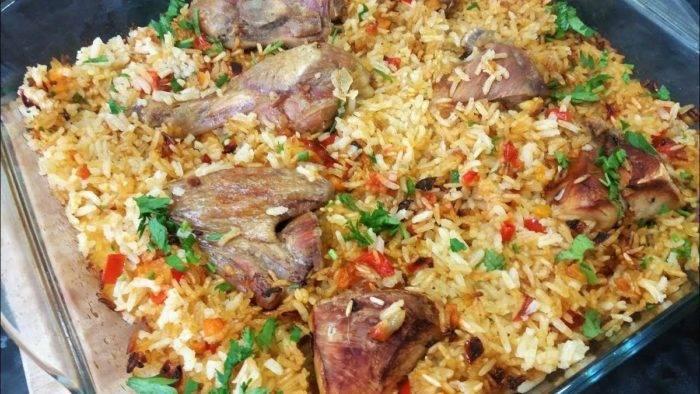 Рис с курицей в духовке — 10 пошаговых рецептов приготовления