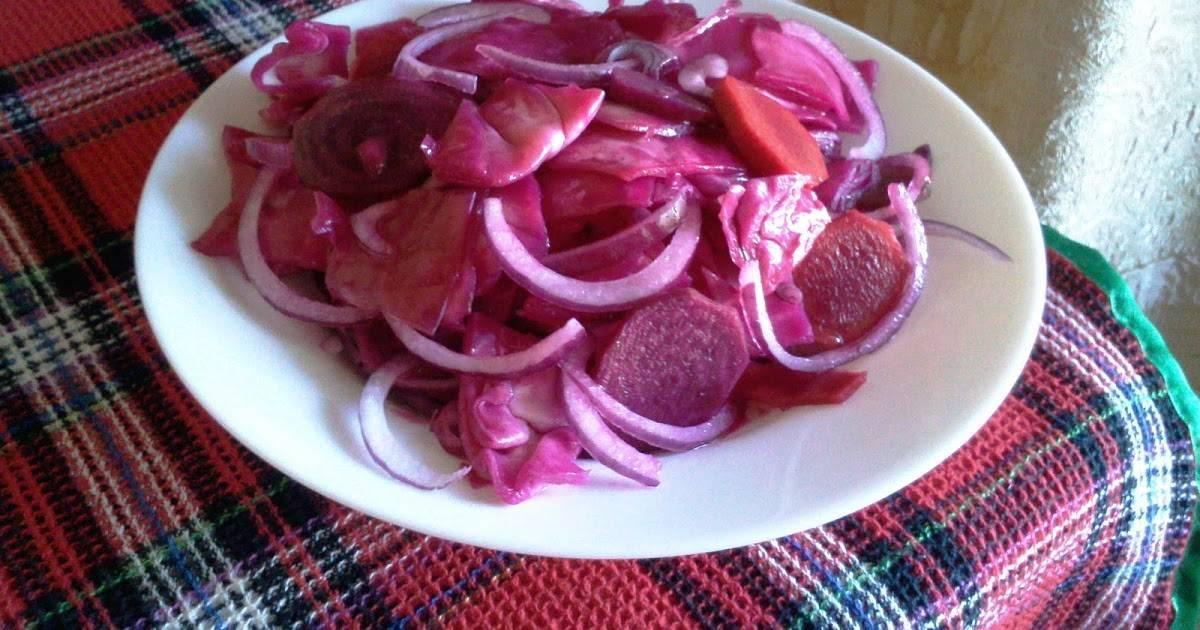 Разносолы из капусты, маринованной со свеклой. «пятиминутка» и «розовая», сладкая и острая – капуста, маринованная со свеклой