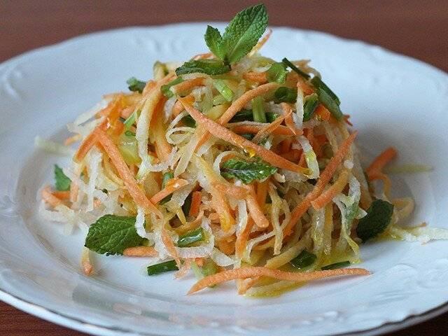 Рецепты салат с капустой и редькой