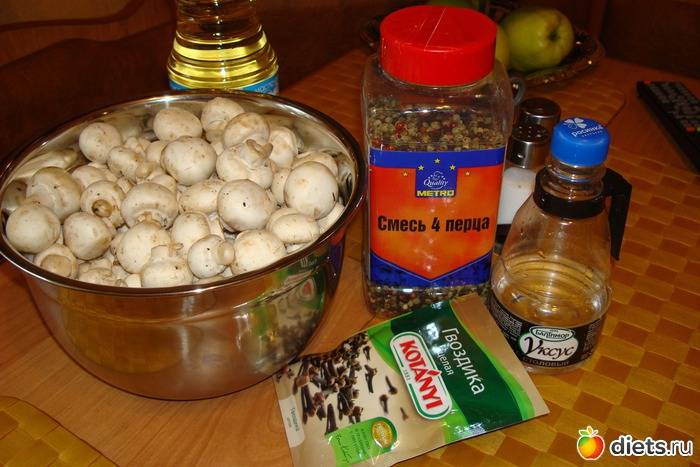 Маринованные шампиньоны быстрого приготовления в домашних условиях с уксусом и без воды