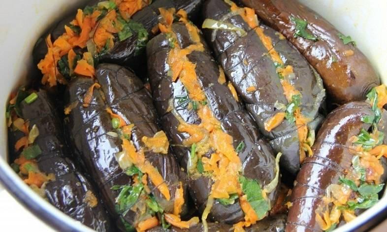 Быстрые и вкусные маринованные баклажаны – рецепты с чесноком, зеленью, морковью