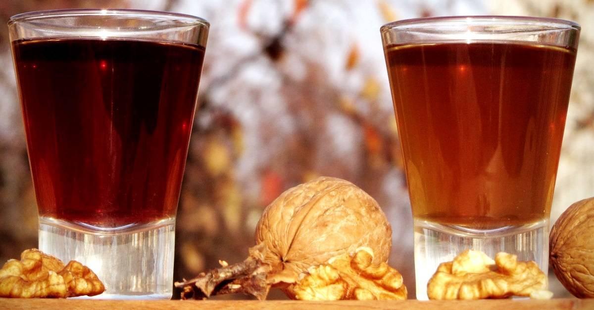 Рецепты настойки самогона на перегородках грецкого ореха