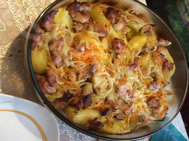 Картошка в духовке с беконом и сыром — пошаговый рецепт с фото