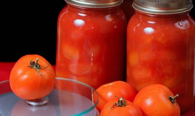 Помидоры в томатном соке на зиму - 7 рецептов с фото