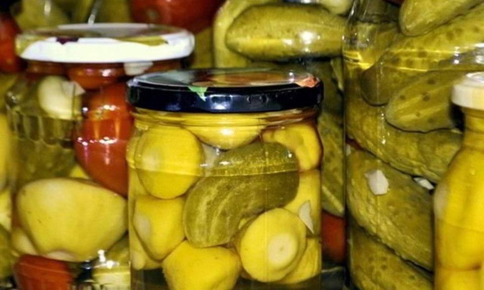 Патиссоны с огурцами на зиму - рецепт с фото пошаговый