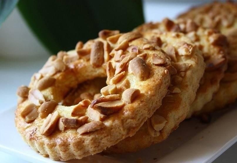 Песочные кольца с арахисом – кулинарный рецепт