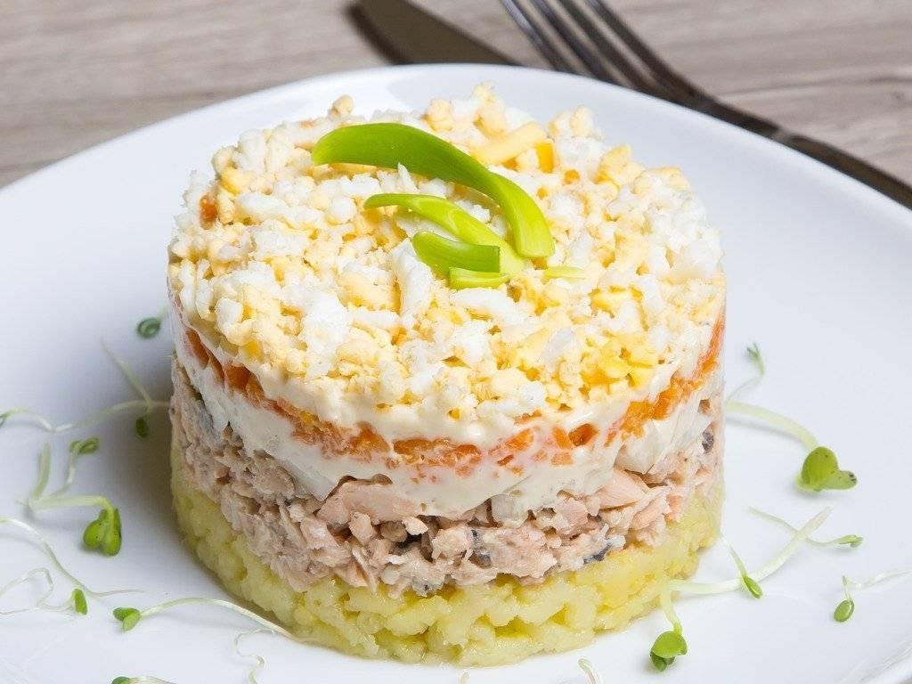 Рыбный салат из консервированной сайры 133 рецепта - 1000.menu