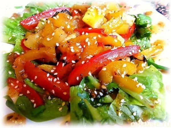 Салат из помидор и перца - 154 домашних вкусных рецепта приготовления