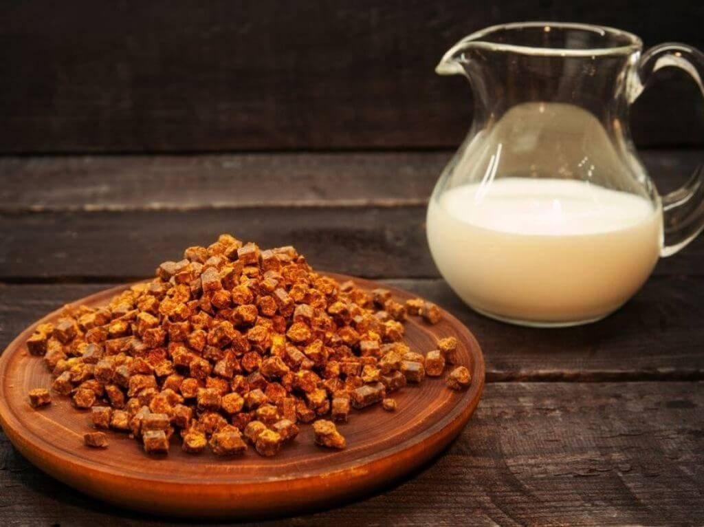 Молоко с кедровыми орехами от кашля для детей