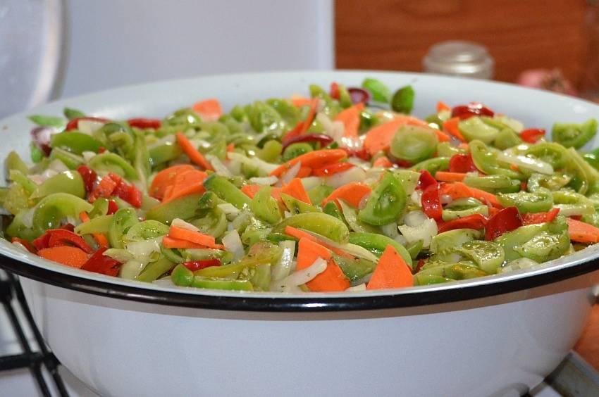 Салат из зеленых помидор на зиму пошаговый рецепт