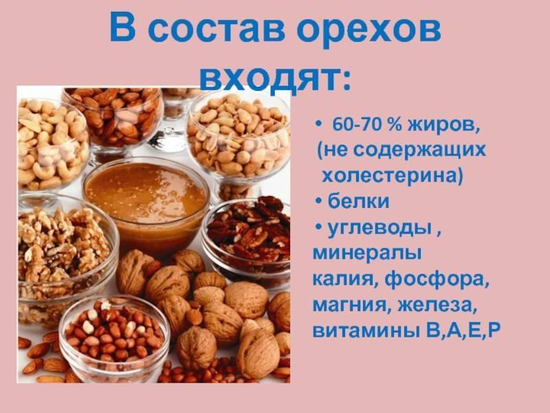 Калорийность кедрового ореха