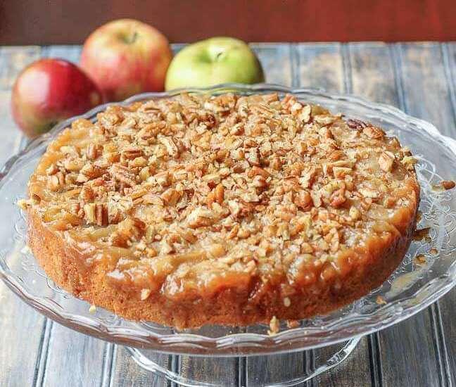 Пирог с орехами и яблоками: рецепт с описанием и фото, особенности приготовления