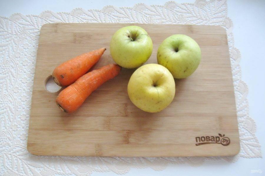 Перец с кабачками и яблоками