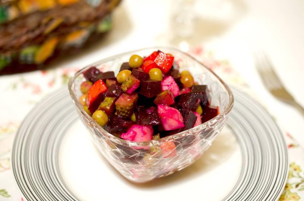 Винегрет с квашеной капустой – 8 пошаговых рецептов приготовления