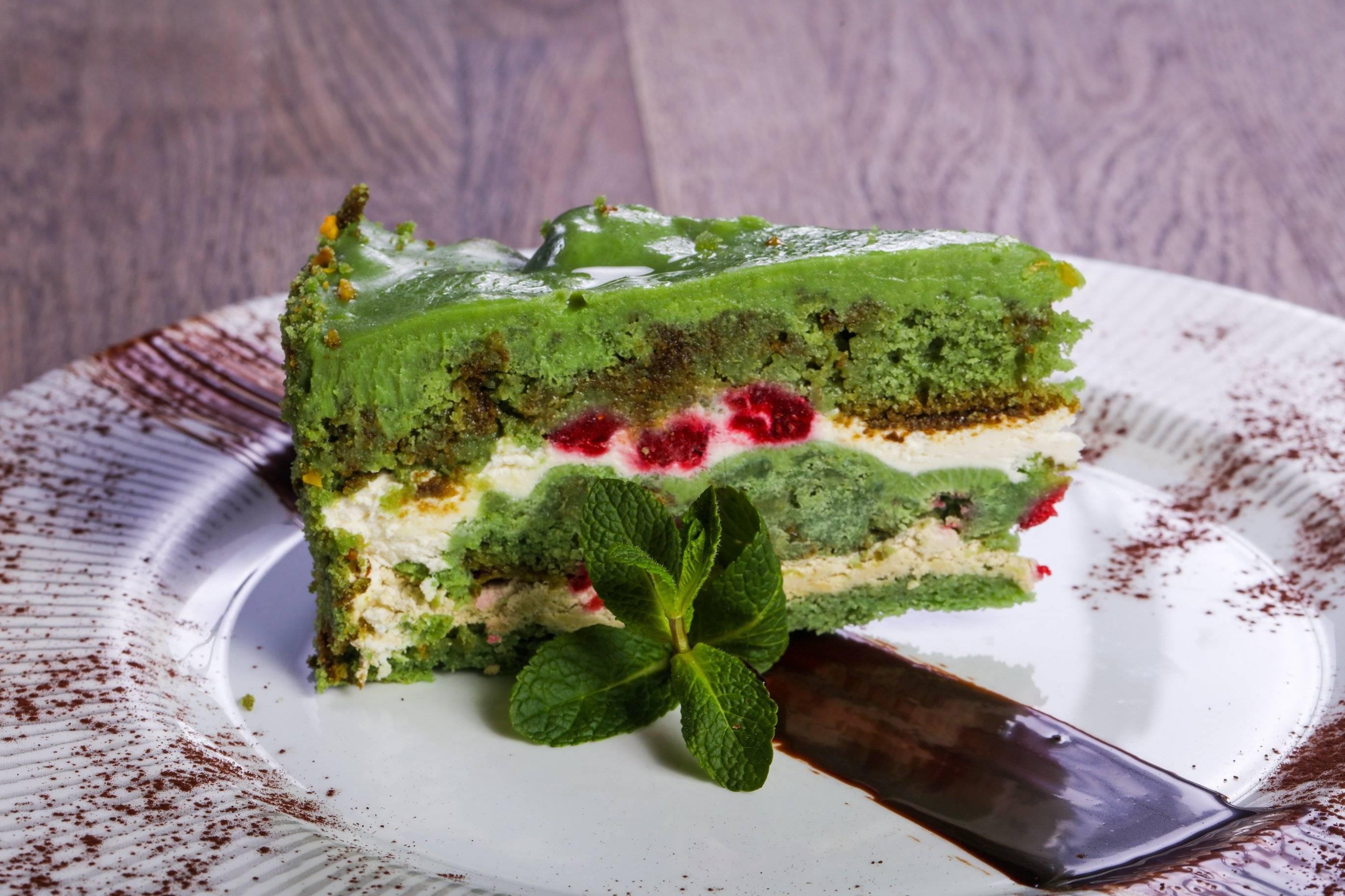 Фисташковый торт – 7 очень вкусных и ароматных рецептов