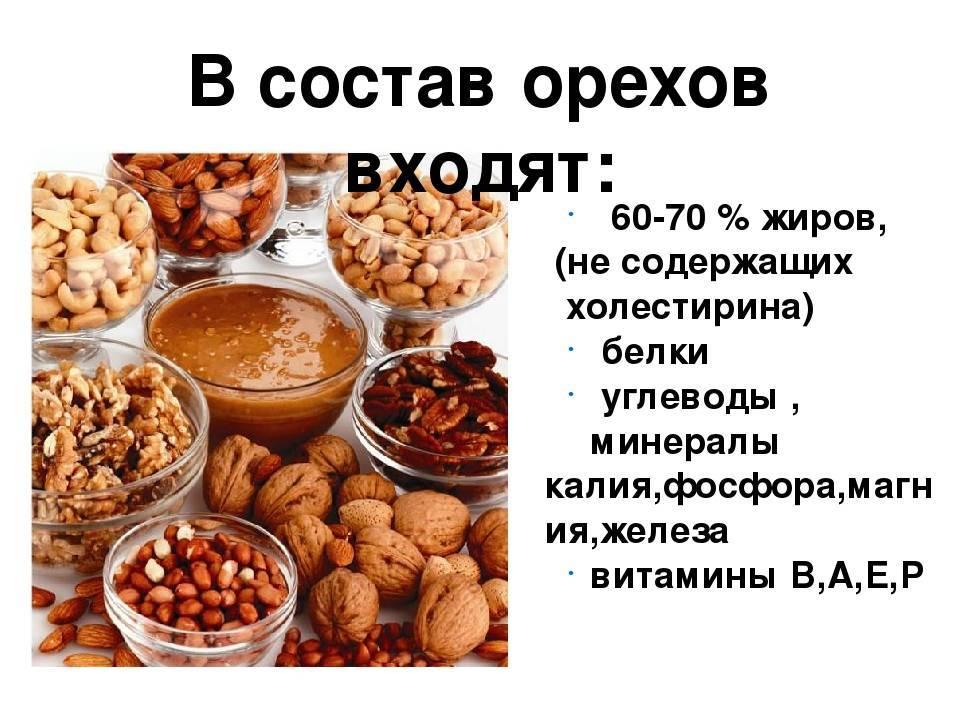 Грецкий орех: калорийность, польза и вред для здоровья организма
