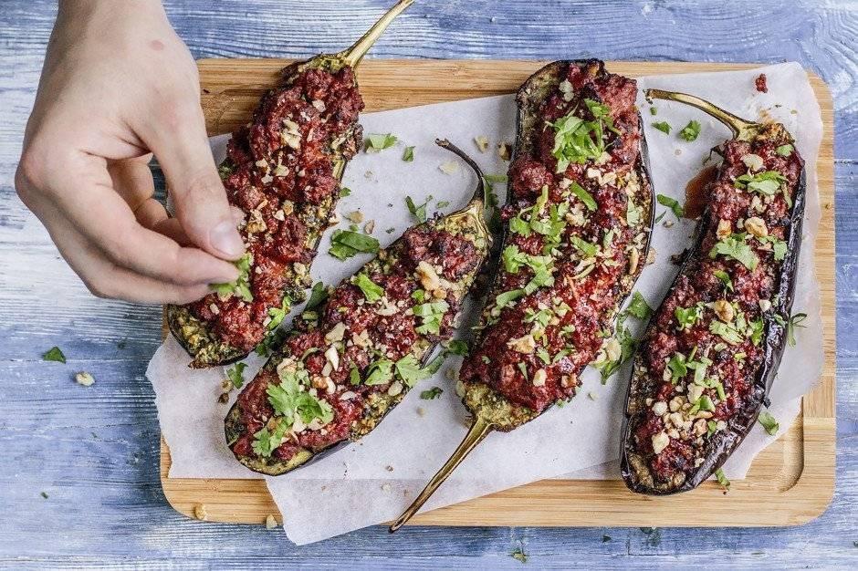 Фаршированные баклажаны — лучшие рецепты. как правильно и вкусно приготовить фаршированные баклажаны.
