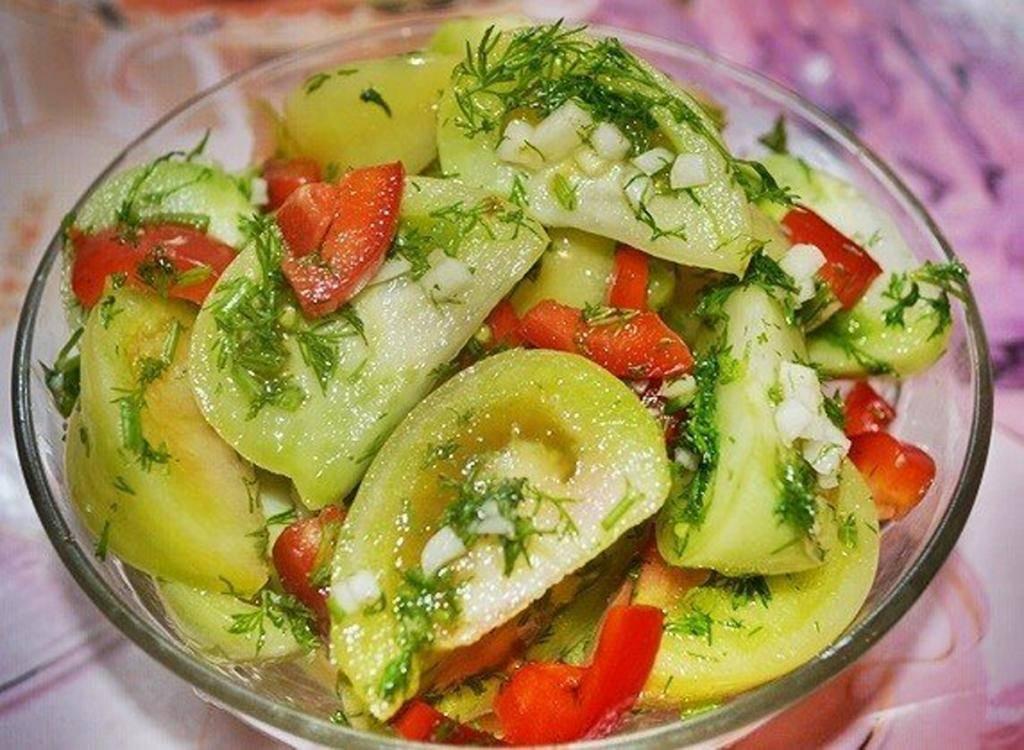 Быстрые рецепты зелёных помидоров для заготовки на зиму