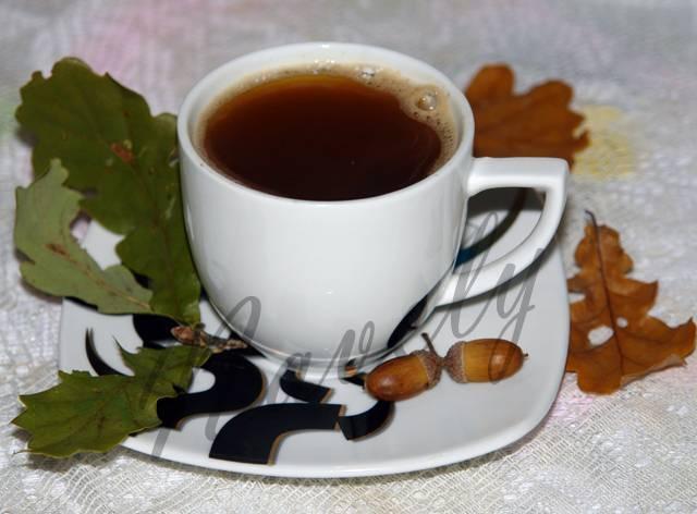Кофейный напиток из желудей – кулинарный рецепт