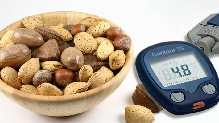 Орехи при сахарном диабете: какие можно есть