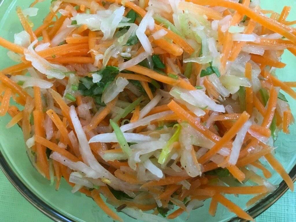 Салат с капустой и морковью с уксусом: рецепты, калорийность