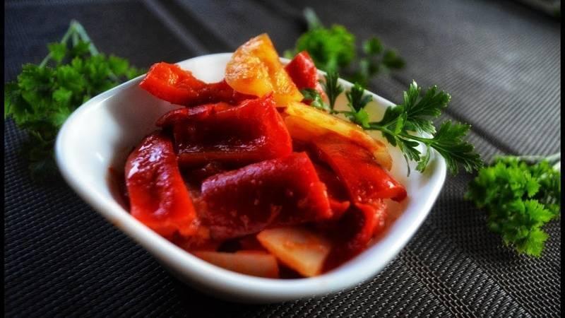 Лечо с томатной пастой и болгарским перцем на зиму - 9 вкусных и простых рецептов с фото пошагово