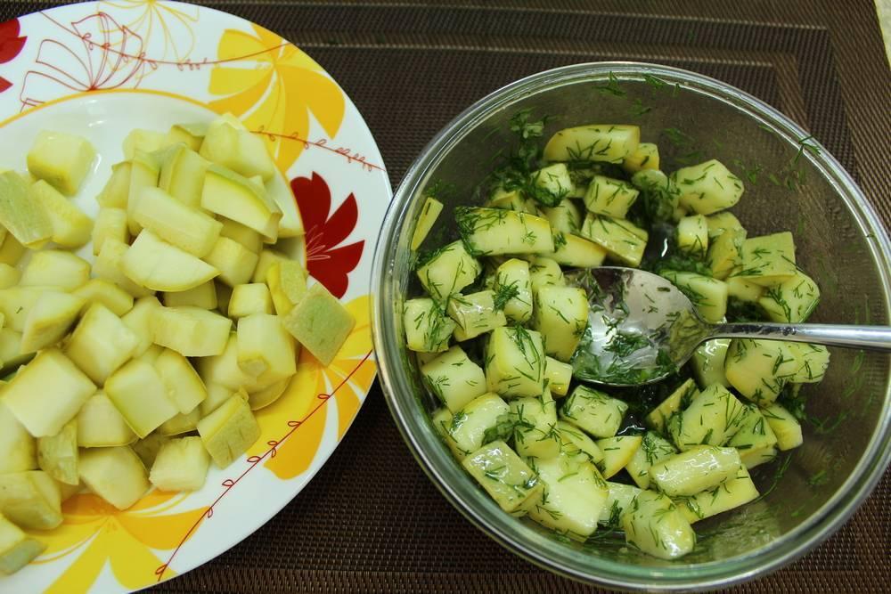 Салат из сырых кабачков – идеальное низкокалорийное блюдо! рецепт с фото и видео