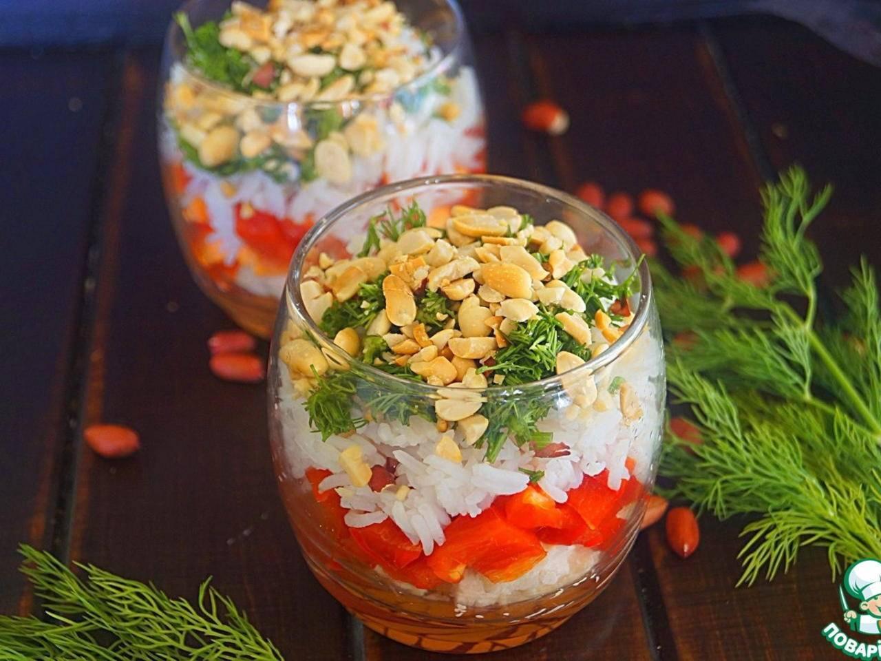 Летний овощной салат с арахисом – кулинарный рецепт