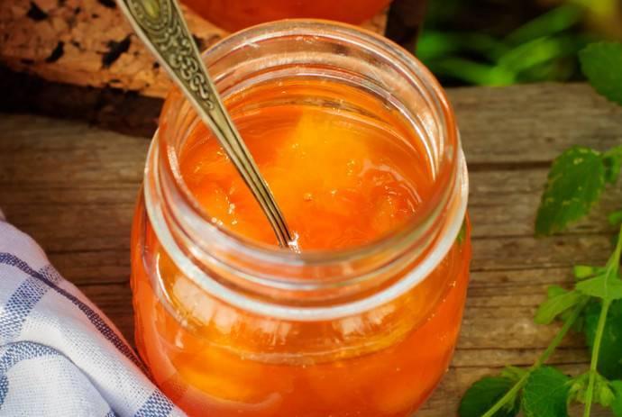 Конфитюр из вишни и персиков