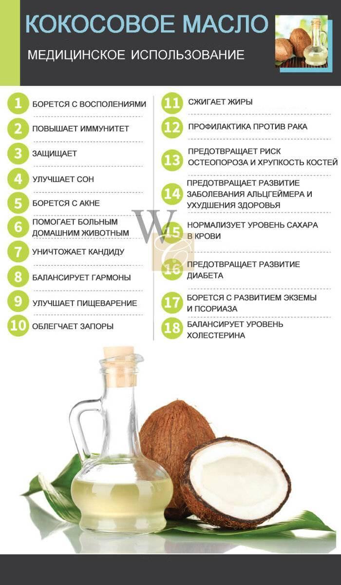 Кокосовое масло для кожи лица: польза, свойства, применение