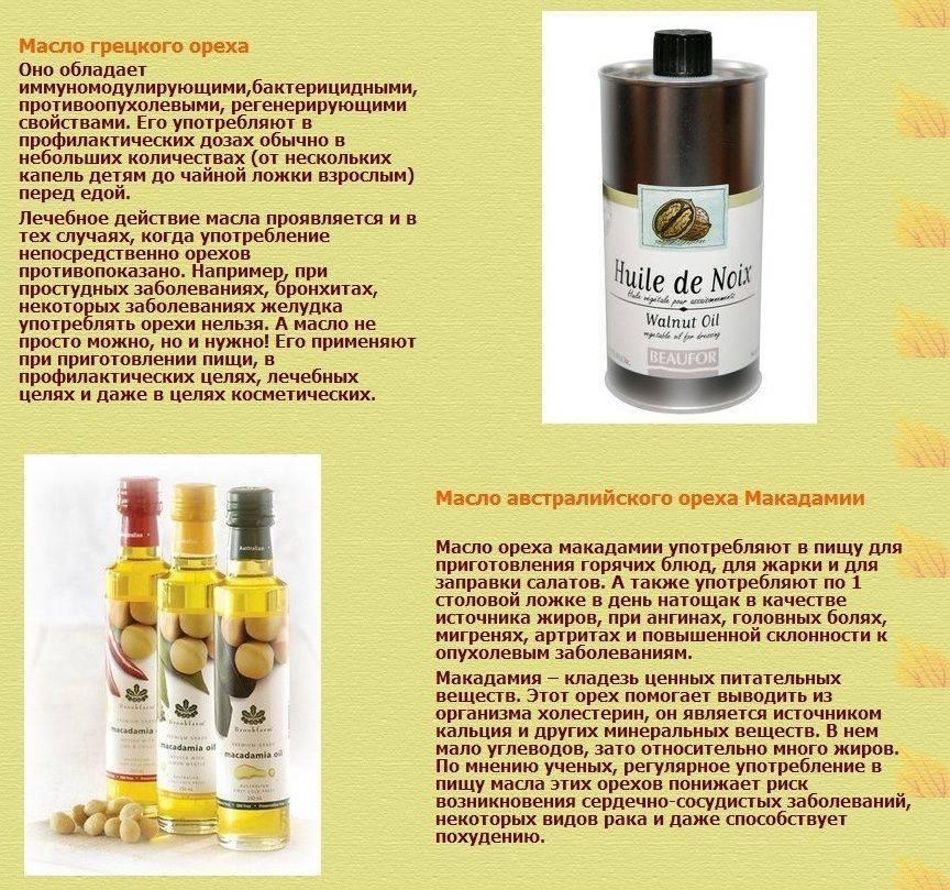 Масло макадамии: свойства и применение в косметологии