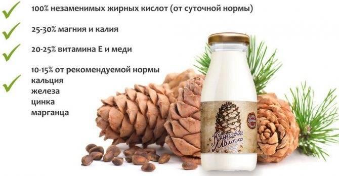 Средство от кашля кедровые орехи и молоко