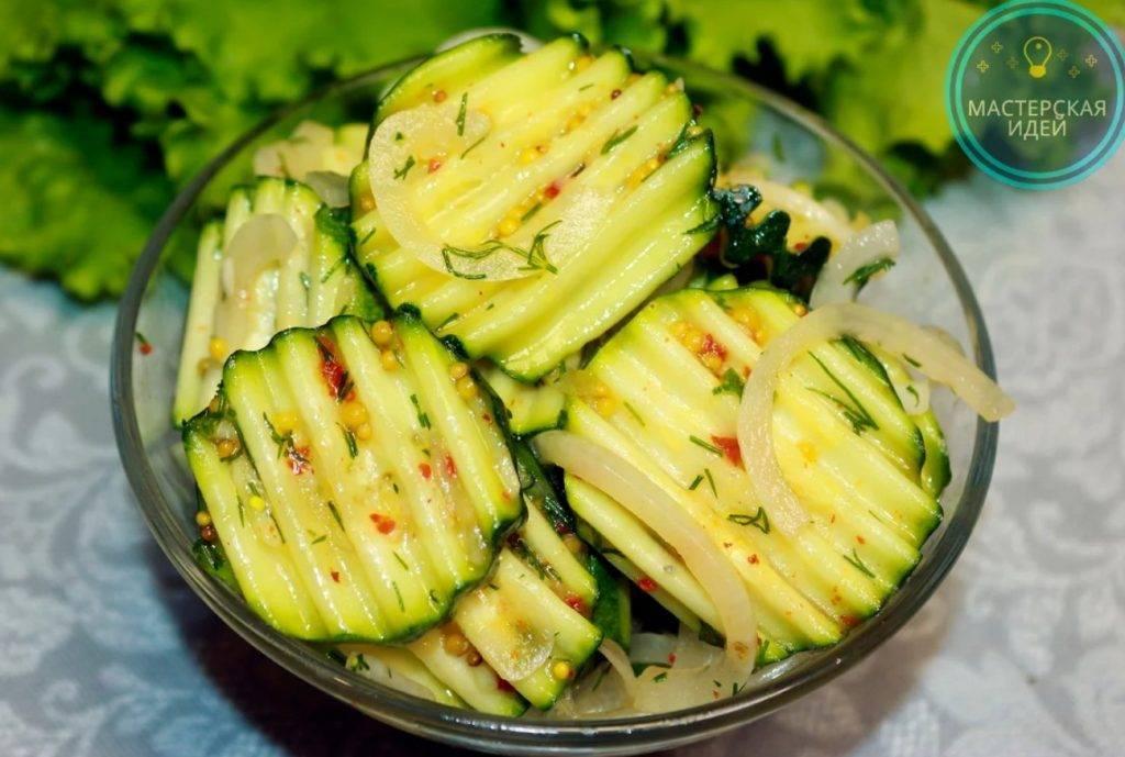 Салаты из кабачков на зиму — вкусные рецепты «пальчики оближешь»