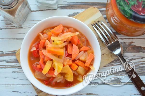 Лечо из зеленых помидор и перца, моркови и лука — хит сезона
