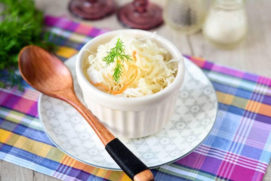 Квашеная капуста классическая - 10 рецептов приготовления с пошаговыми фото