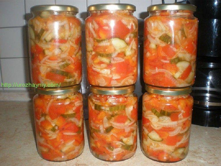 Кубанский салат на зиму из капусты, огурцов и помидор: без стерилизации, со стерилизацией - рецепты с фото